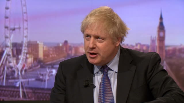 boris johnson saying it is repulsive that london bridge attacker usman khan was released early and that he plans to change the law - andrew marr stock videos & royalty-free footage