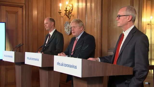 """boris johnson saying """"many more families are going to lose loved ones before their time"""" due to the coronavirus outbreak - boris johnson stock videos & royalty-free footage"""
