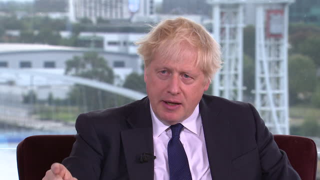 """boris johnson saying the uk has """"bounced back from the covid pandemic more strongly than any other g7 economy"""" - challenge stock videos & royalty-free footage"""