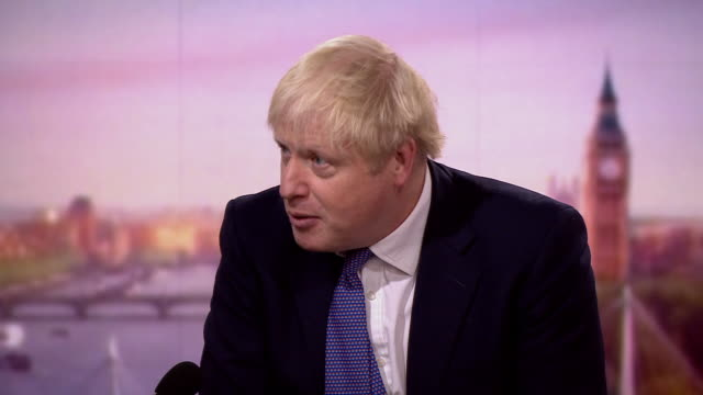 """boris johnson saying the uk's coronavirus test and trace service is """"very good indeed"""" when compared to similiar systems in other countries - other stock videos & royalty-free footage"""