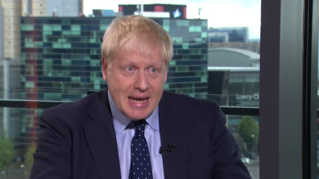 boris johnson saying there is a strong view within the eu that it's time to move on from brexit - andrew marr stock videos & royalty-free footage