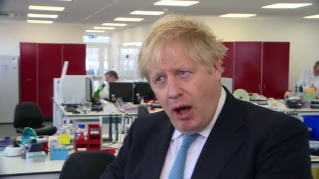 boris johnson saying there will be a £46m investment in uk science to deliver a vaccine for coronavirus - investment stock videos & royalty-free footage