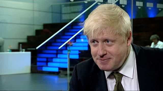 boris johnson seeks to stand as mp in next general election boris johnson interviews england london int boris johnson interview with channel 4 news... - cathy newman stock-videos und b-roll-filmmaterial