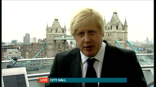 stockvideo's en b-roll-footage met boris johnson sets out his vision for london england london gir / city hall boris johnson live 2way interview sot important to distinguish difference... - number 9