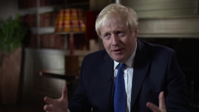 boris johnson summarises the chequers brexit strategy saying 'we would be taking laws in the uk..from a foreign jurisdiction over which we have no... - boris johnson stock videos & royalty-free footage