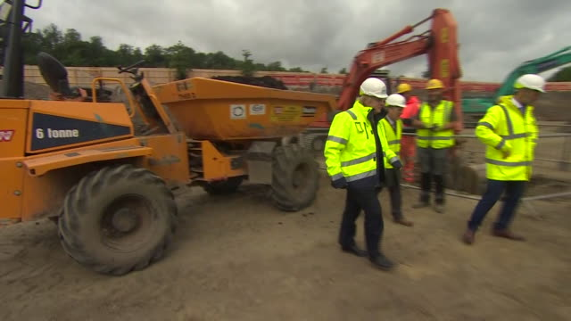 boris johnson visiting a construction site - vehicle seat stock videos & royalty-free footage