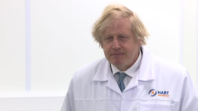 boris johnson visits hart biologicals; part 2 of 4 england: county durham: hartlepool: int boris johnson mp interview sot - so what i hope is that... - uncertainty stock videos & royalty-free footage
