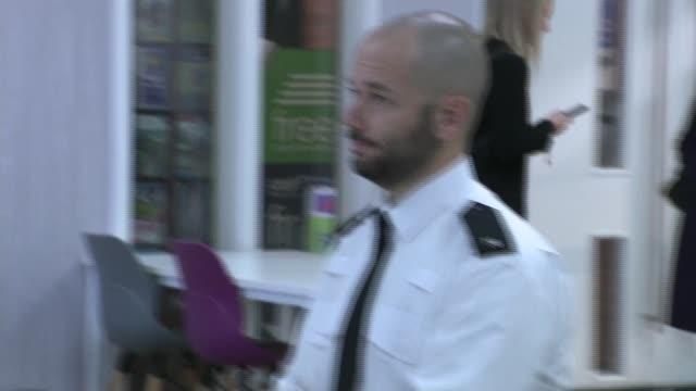 boris johnson visits northamptonshire police hq; england: northampton: northamptonshire police hq: int boris johnson mp watching police officers... - northampton england stock videos & royalty-free footage
