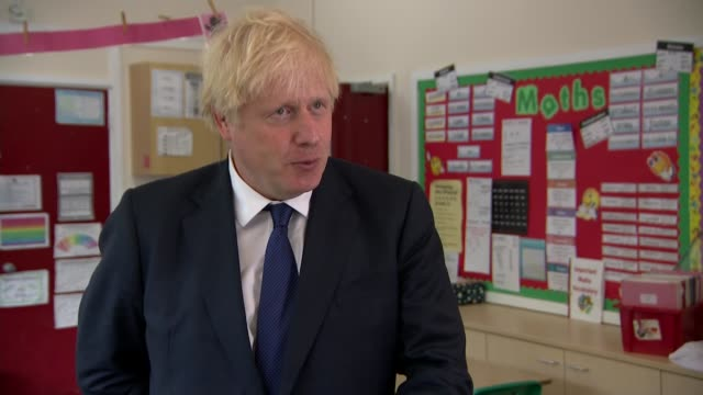 boris johnson visits school in east london england east london st joseph's school int boris johnson mp interview sot september teachers have done an... - uk politics stock videos & royalty-free footage