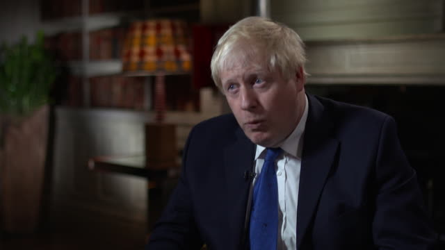 boris johnson wants to get back to the original brexit plan as outlined by theresa may at lancaster house - political party stock videos & royalty-free footage