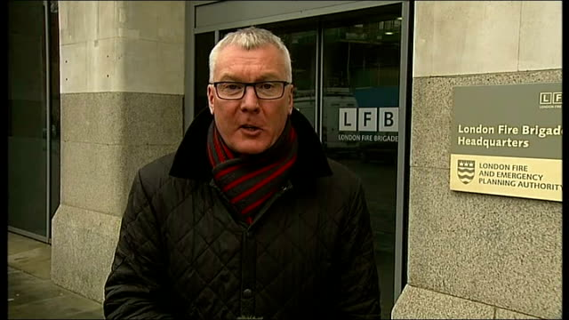 boris johnson wins fire service cuts battle england london london fire brigade headquarters int boris johnson interview sot i just think londoners... - bethnal green stock videos & royalty-free footage