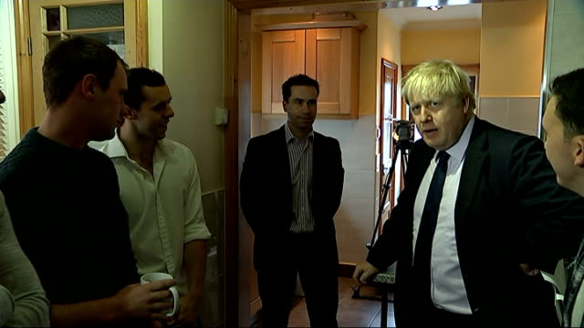 boris johnson's rental standards scheme for private landlords criticised; england: london: ext boris johnson photocall as presenting private landlord... - home ownership stock videos & royalty-free footage