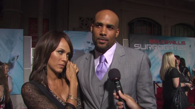 boris kodjoe and nicole ari parker on his role in the film on what attracted him to this role on working with bruce willis on if bruce was what he... - bruce willis stock videos and b-roll footage