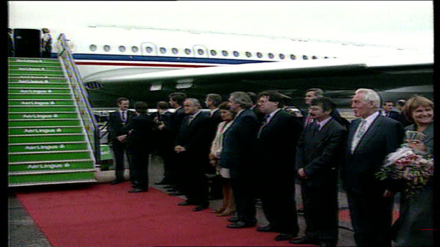 Boris Yeltsin former President of the Soviet Union has died aged 76 LIB Officials waiting for Yeltsin to disembark from plane including Albert...