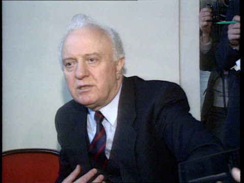 Boris Yeltsin takes over more Soviet authority ITN CMS Eduard Shevardnadze speaking in intvw