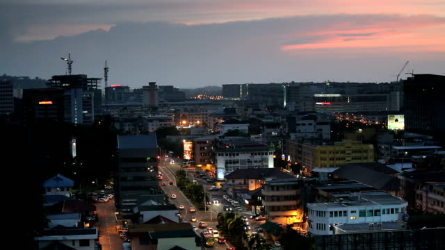 Borneo Malaysia Kota Kinabalu Asia dusk illuminated