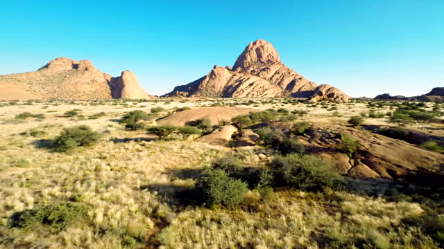 heli bornhardts stand out from a steppe - grass area stock videos and b-roll footage