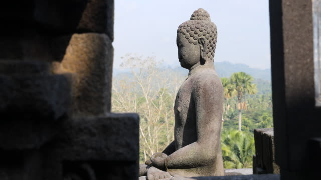 borobudur temple in central java, indonesia - male likeness stock videos & royalty-free footage