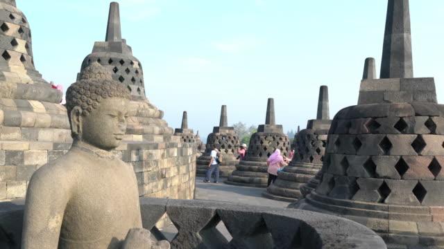 borobudur temple - bali stock videos & royalty-free footage