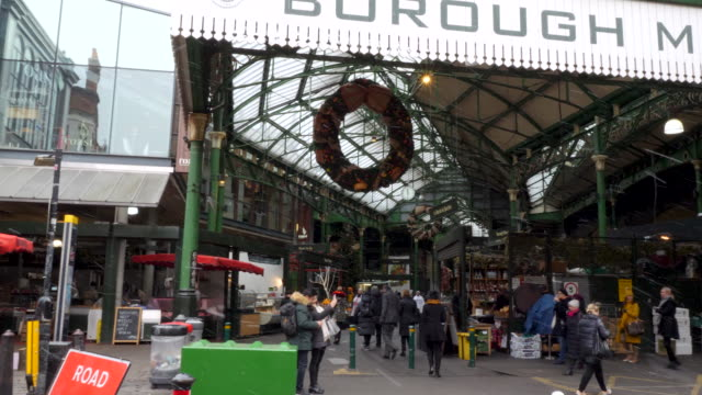Borough Market in the snow, London