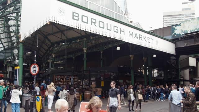 vídeos de stock e filmes b-roll de borough market - reino unido