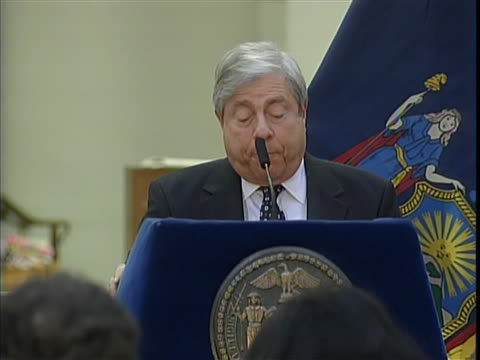 "borough president, marty markowitz, speaks about the high rates of hiv-aids in brooklyn during a world aids day event. he says, ""hiv-aids rate in... - retrovirus video stock e b–roll"