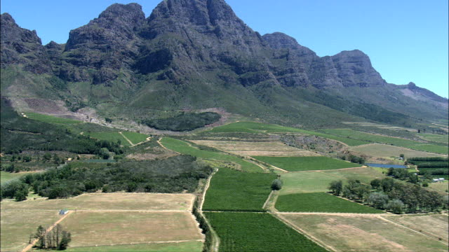boschendal estate  - aerial view - western cape,  cape winelands district municipality,  stellenbosch,  south africa - stellenbosch stock videos and b-roll footage