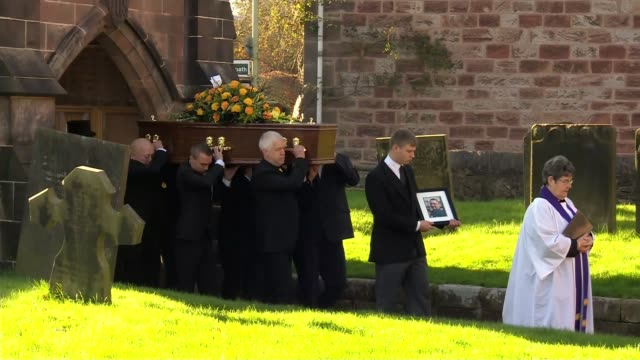 funeral of victim held / criticism of mill owners england cheshire ext coffin of will barks who was killed in the bosley wood flour mill explosion... - flour mill stock videos & royalty-free footage