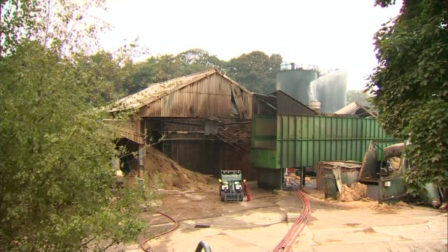 owners contact families of dead workers england cheshire bosley ext damaged building at wood flour mill plant that was destroyed by an explosion and... - flour mill stock videos & royalty-free footage