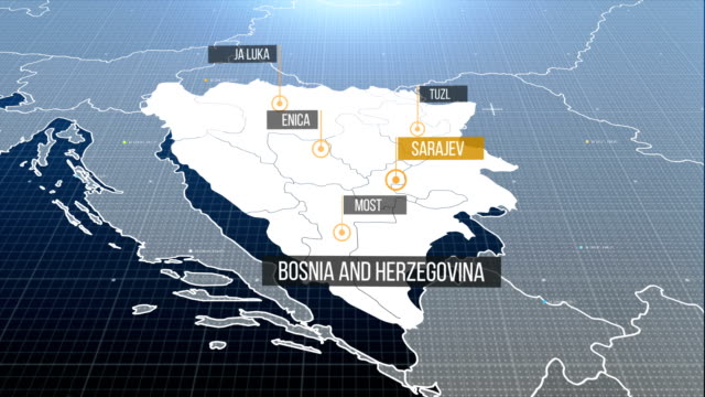 bosnia and hercegovina map with label then with out label