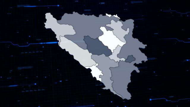 Bosnia and Herzegovina network map