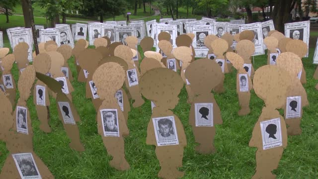 bosnia and herzegovina on monday, may 31, marked white ribbons day in honor of thousands of innocent civilians killed in the western town of... - banja luka stock videos & royalty-free footage