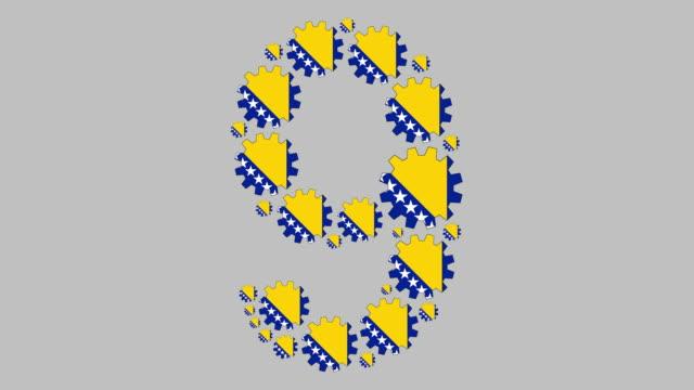 bosnische nummer neun - zahl 9 stock-videos und b-roll-filmmaterial