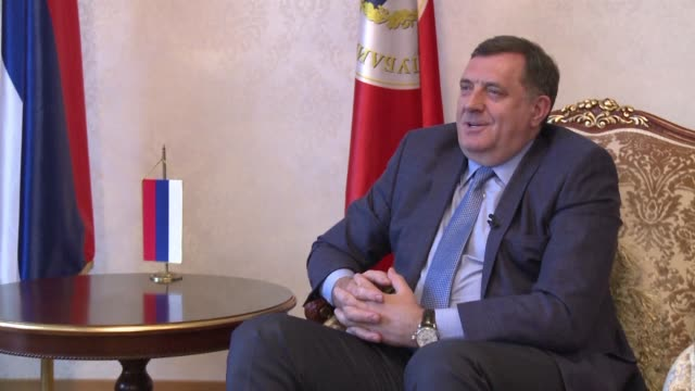 bosnian serb leader milorad dodik denies intention to create paramilitary units or to be the instrument of russia to destabilise his country calling... - banja luka stock videos & royalty-free footage