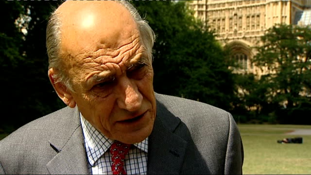 bosnian serb wartime general ratko mladic arrested; england: london: ext general sir mike jackson interview sot - ratko mladic stock videos & royalty-free footage