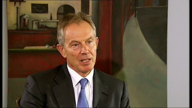 Bosnian Serb wartime general Ratko Mladic arrested ENGLAND London INT Tony Blair interview SOT This a huge moment for the principle for people who...