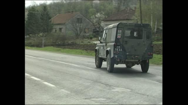 omarska / banja luka gvs; bosnia-herzegovina: banja luka: sfor [stabilisation force in bosnia and herzegovina] hq: tlms military police truck along... - g force stock videos & royalty-free footage