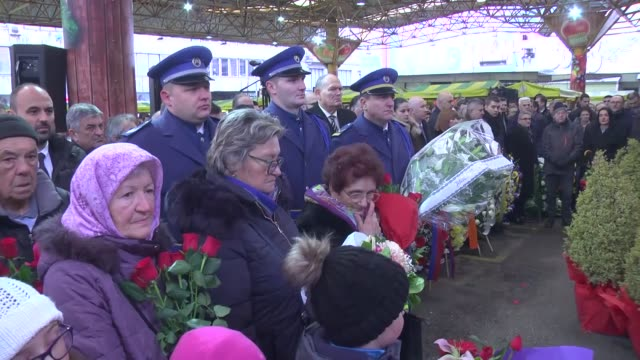 bosnians gather on february 05 2020 to commemorate the 26th anniversary of a massacre which took the lives of 68 people and injured nearly 150 the... - honor killing stock videos & royalty-free footage