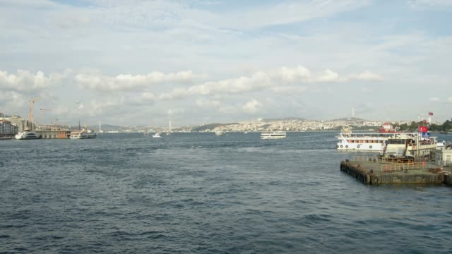 bosphorus and boats - istanbul province stock videos & royalty-free footage