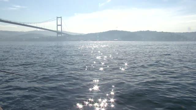 bosphorus bridge in instanbul - istanbul stock videos & royalty-free footage