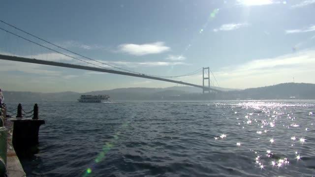 bosphorus bridge in istanbul - bosphorus stock videos & royalty-free footage