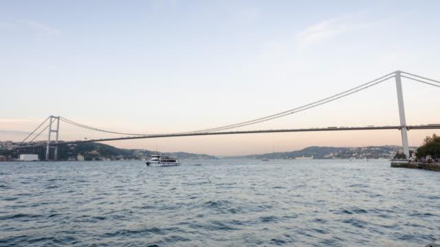 TIME LAPSE: Bosphorus bridge Istanbul day to night