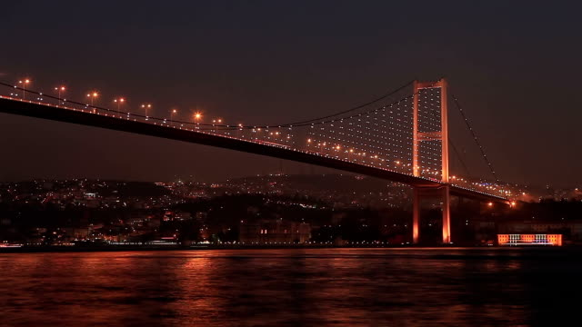 hd: bosphorus bridge , istanbul, turkey - july 15 martyrs' bridge stock videos & royalty-free footage