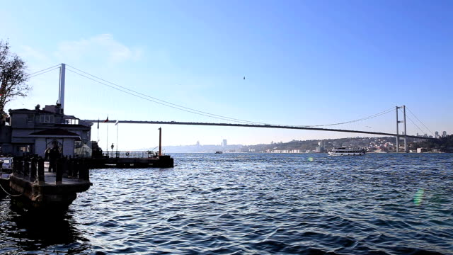 hd: bosphorus bridge , istanbul, turkey - bosphorus stock videos & royalty-free footage