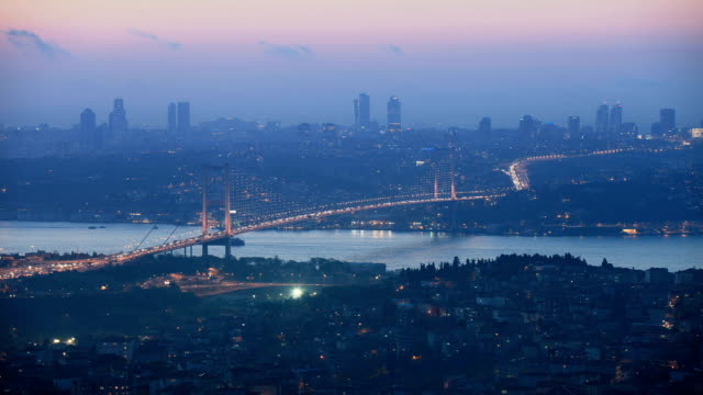 hd: bosphorus bridge **time lapse**, istanbul, turkey - july 15 martyrs' bridge stock videos & royalty-free footage