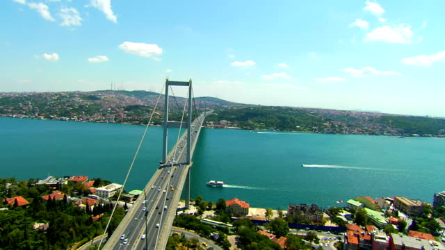 bosphorus bridge - july 15 martyrs' bridge stock videos & royalty-free footage