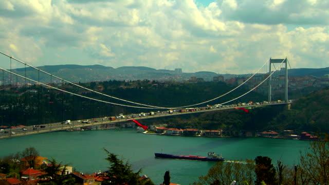 bosphorus bridge - july 15 martyrs' bridge stock videos and b-roll footage