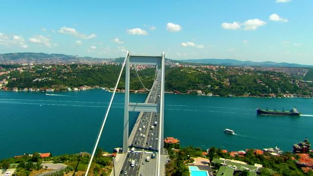 bosphorus bridge2 - bosphorus stock videos & royalty-free footage
