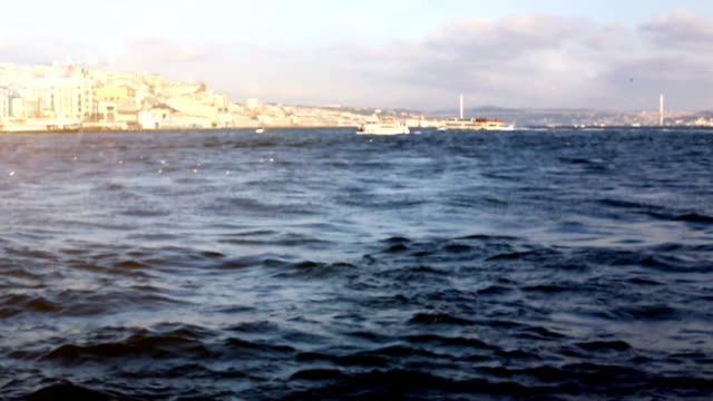 bosphorus istanbul ship city - byakkaya stock videos and b-roll footage