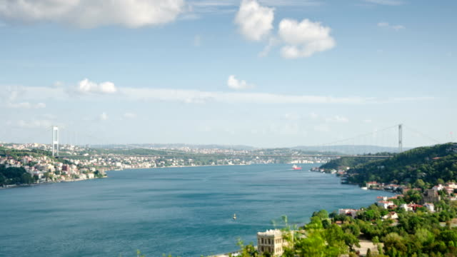 bosphorus istanbul time lapse - bosphorus stock videos and b-roll footage